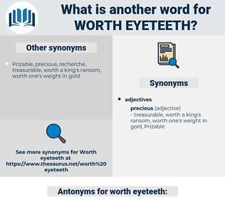 worth eyeteeth, synonym worth eyeteeth, another word for worth eyeteeth, words like worth eyeteeth, thesaurus worth eyeteeth