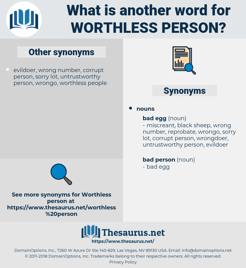 worthless person, synonym worthless person, another word for worthless person, words like worthless person, thesaurus worthless person