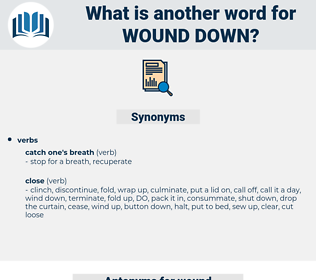wound down, synonym wound down, another word for wound down, words like wound down, thesaurus wound down