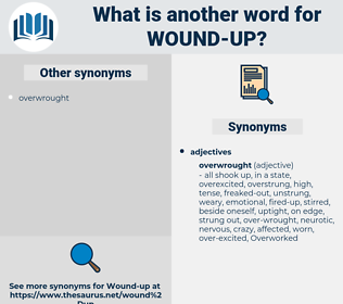 wound up, synonym wound up, another word for wound up, words like wound up, thesaurus wound up