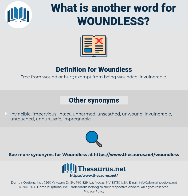 Woundless, synonym Woundless, another word for Woundless, words like Woundless, thesaurus Woundless