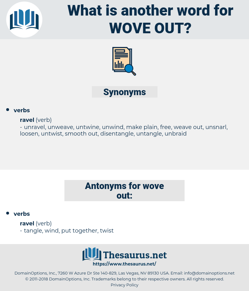 wove out, synonym wove out, another word for wove out, words like wove out, thesaurus wove out