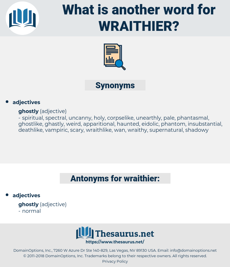 wraithier, synonym wraithier, another word for wraithier, words like wraithier, thesaurus wraithier