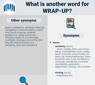 wrap up, synonym wrap up, another word for wrap up, words like wrap up, thesaurus wrap up