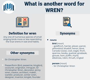 wren, synonym wren, another word for wren, words like wren, thesaurus wren