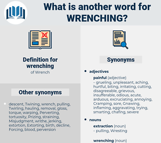 wrenching, synonym wrenching, another word for wrenching, words like wrenching, thesaurus wrenching