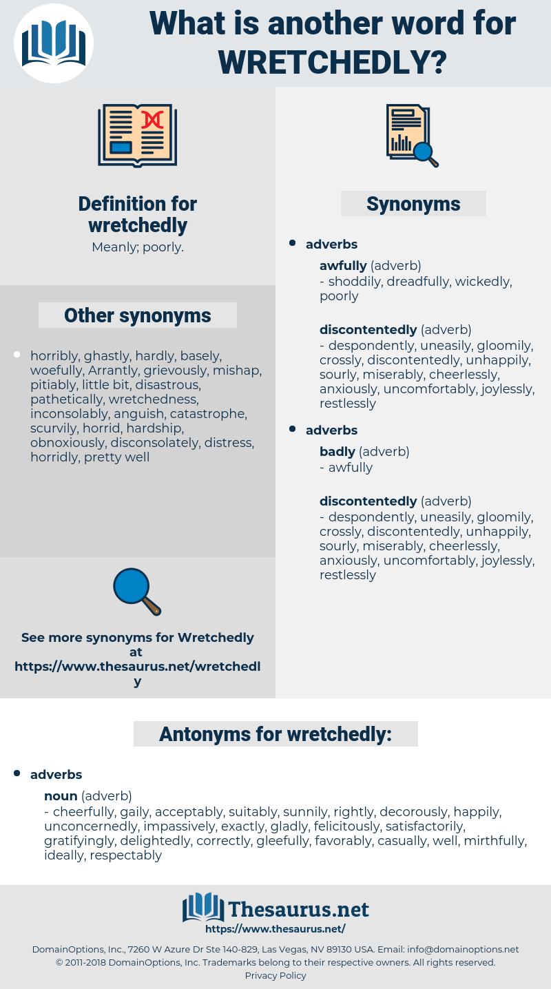 wretchedly, synonym wretchedly, another word for wretchedly, words like wretchedly, thesaurus wretchedly