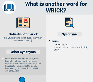 wrick, synonym wrick, another word for wrick, words like wrick, thesaurus wrick
