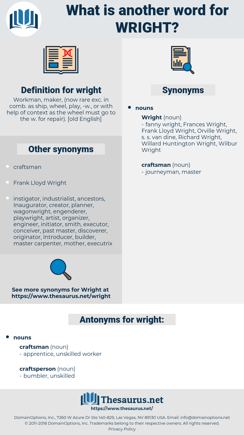 wright, synonym wright, another word for wright, words like wright, thesaurus wright