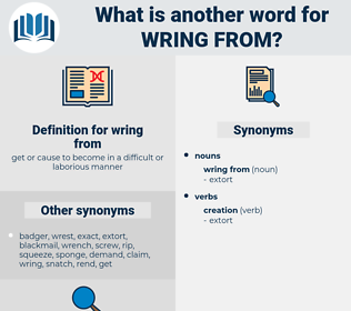 wring from, synonym wring from, another word for wring from, words like wring from, thesaurus wring from