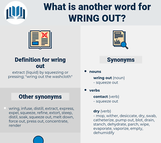 wring out, synonym wring out, another word for wring out, words like wring out, thesaurus wring out