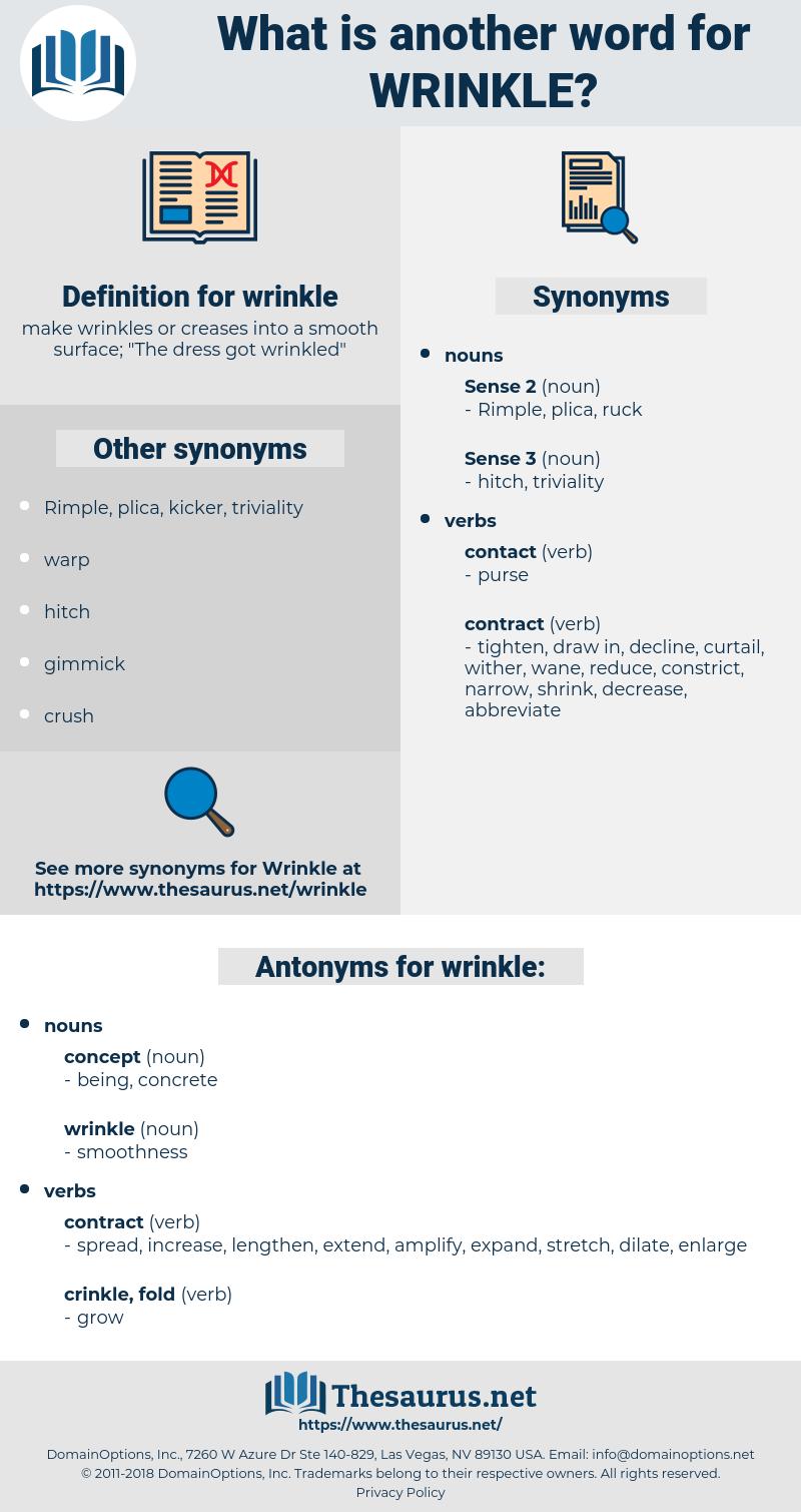 wrinkle, synonym wrinkle, another word for wrinkle, words like wrinkle, thesaurus wrinkle