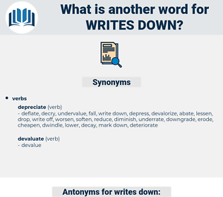 writes down, synonym writes down, another word for writes down, words like writes down, thesaurus writes down