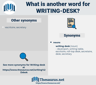 writing desk, synonym writing desk, another word for writing desk, words like writing desk, thesaurus writing desk