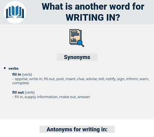 writing in, synonym writing in, another word for writing in, words like writing in, thesaurus writing in