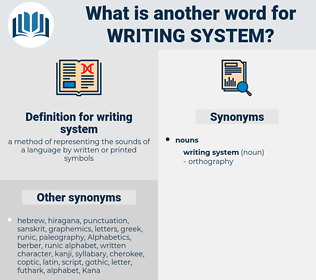 writing system, synonym writing system, another word for writing system, words like writing system, thesaurus writing system