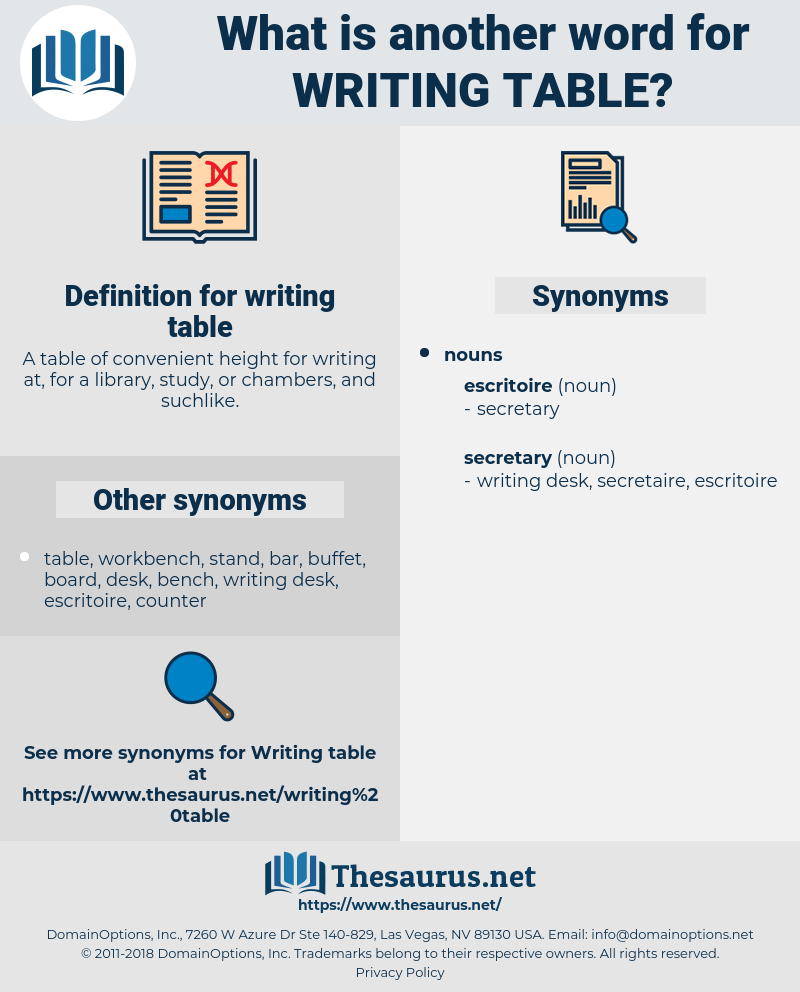writing table, synonym writing table, another word for writing table, words like writing table, thesaurus writing table