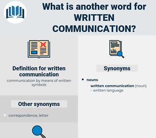 written communication, synonym written communication, another word for written communication, words like written communication, thesaurus written communication