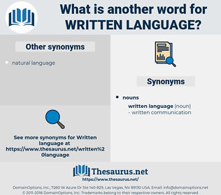 written language, synonym written language, another word for written language, words like written language, thesaurus written language