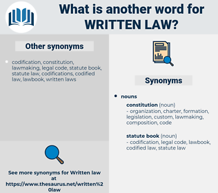 written law, synonym written law, another word for written law, words like written law, thesaurus written law
