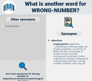 wrong number, synonym wrong number, another word for wrong number, words like wrong number, thesaurus wrong number