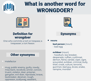wrongdoer, synonym wrongdoer, another word for wrongdoer, words like wrongdoer, thesaurus wrongdoer