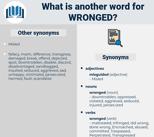 wronged, synonym wronged, another word for wronged, words like wronged, thesaurus wronged