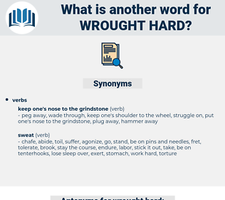 wrought hard, synonym wrought hard, another word for wrought hard, words like wrought hard, thesaurus wrought hard