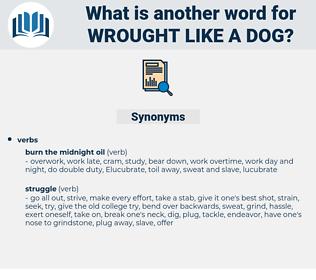 wrought like a dog, synonym wrought like a dog, another word for wrought like a dog, words like wrought like a dog, thesaurus wrought like a dog