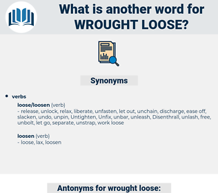 wrought loose, synonym wrought loose, another word for wrought loose, words like wrought loose, thesaurus wrought loose
