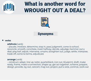 wrought out a deal, synonym wrought out a deal, another word for wrought out a deal, words like wrought out a deal, thesaurus wrought out a deal