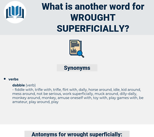 wrought superficially, synonym wrought superficially, another word for wrought superficially, words like wrought superficially, thesaurus wrought superficially