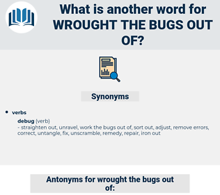 wrought the bugs out of, synonym wrought the bugs out of, another word for wrought the bugs out of, words like wrought the bugs out of, thesaurus wrought the bugs out of