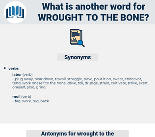 wrought to the bone, synonym wrought to the bone, another word for wrought to the bone, words like wrought to the bone, thesaurus wrought to the bone
