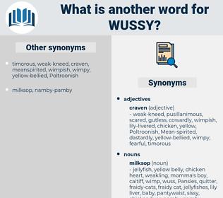 wussy, synonym wussy, another word for wussy, words like wussy, thesaurus wussy
