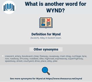 Wynd, synonym Wynd, another word for Wynd, words like Wynd, thesaurus Wynd