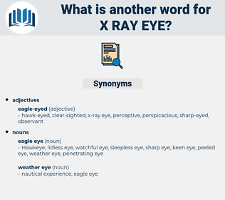 x ray eye, synonym x ray eye, another word for x ray eye, words like x ray eye, thesaurus x ray eye