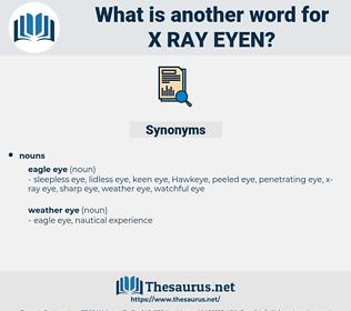 x ray eyen, synonym x ray eyen, another word for x ray eyen, words like x ray eyen, thesaurus x ray eyen