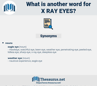 x ray eyes, synonym x ray eyes, another word for x ray eyes, words like x ray eyes, thesaurus x ray eyes
