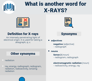 X-rays, synonym X-rays, another word for X-rays, words like X-rays, thesaurus X-rays