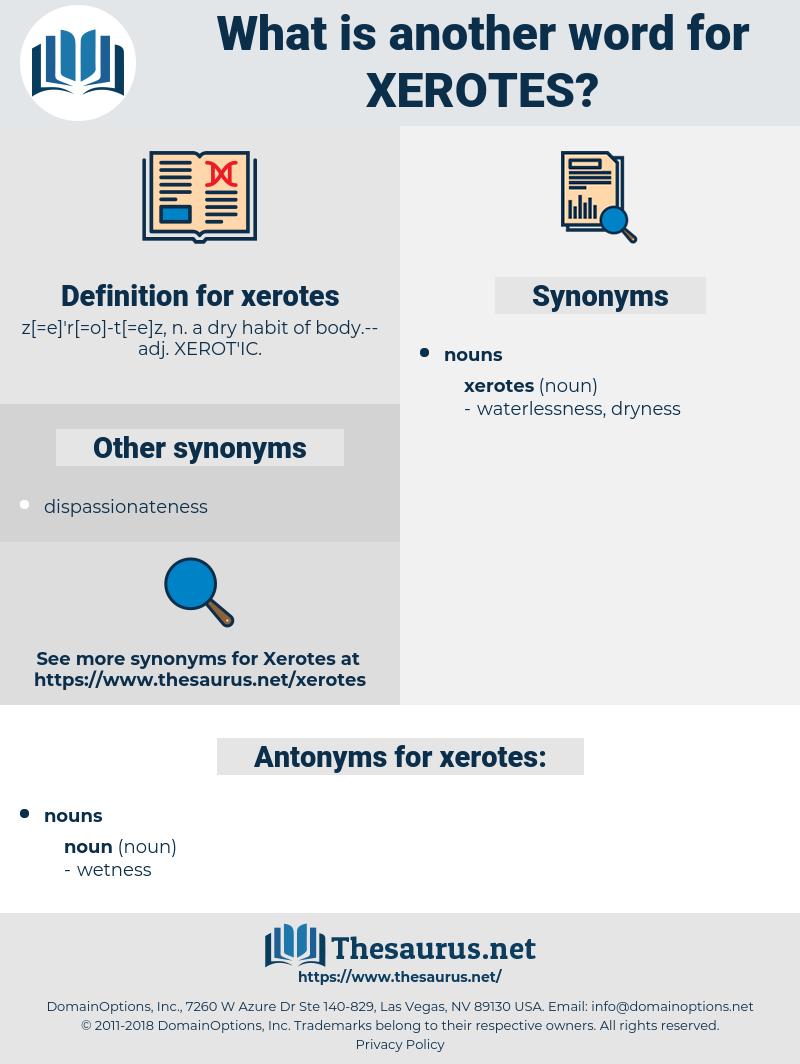 xerotes, synonym xerotes, another word for xerotes, words like xerotes, thesaurus xerotes