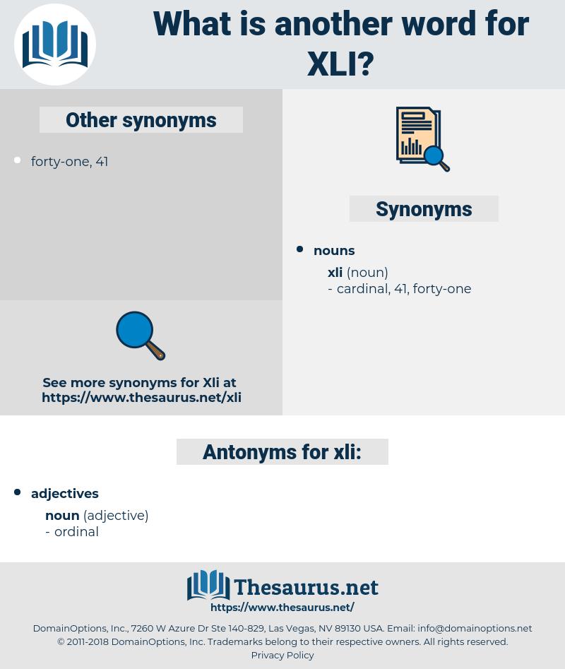 xli, synonym xli, another word for xli, words like xli, thesaurus xli