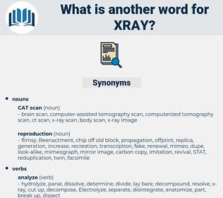 Xray, synonym Xray, another word for Xray, words like Xray, thesaurus Xray
