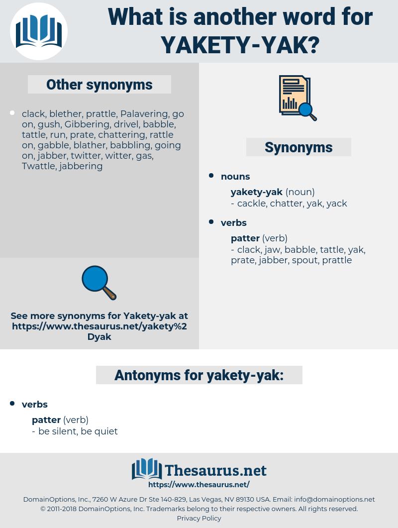 yakety-yak, synonym yakety-yak, another word for yakety-yak, words like yakety-yak, thesaurus yakety-yak