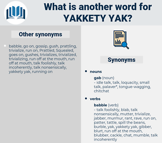 yakkety-yak, synonym yakkety-yak, another word for yakkety-yak, words like yakkety-yak, thesaurus yakkety-yak