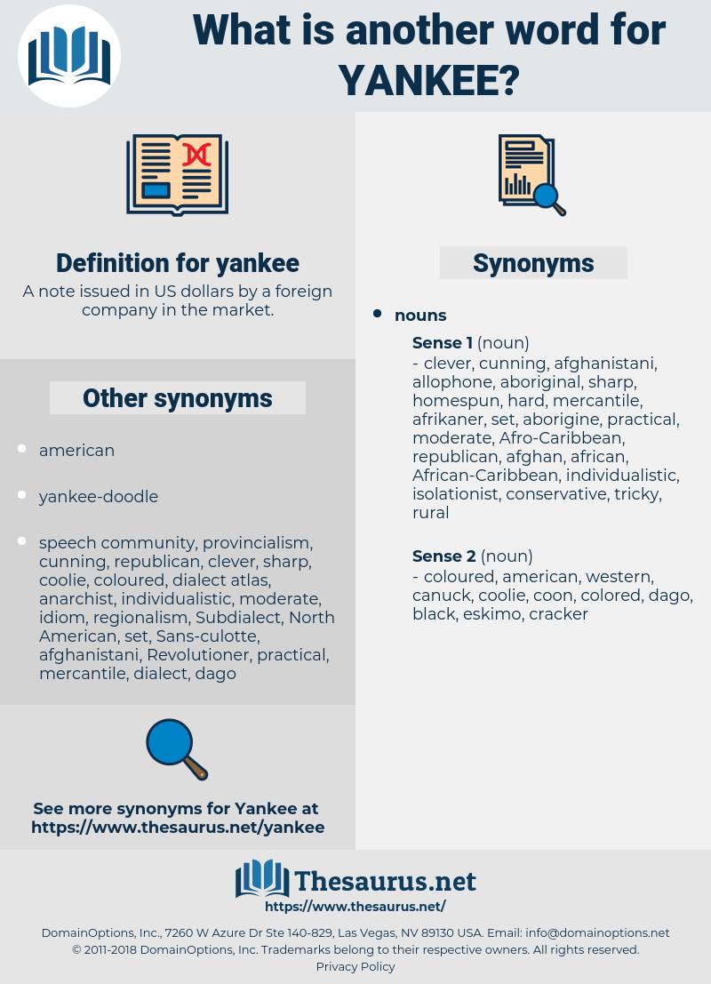 yankee, synonym yankee, another word for yankee, words like yankee, thesaurus yankee