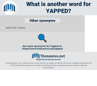 yapped, synonym yapped, another word for yapped, words like yapped, thesaurus yapped