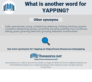 yapping, synonym yapping, another word for yapping, words like yapping, thesaurus yapping