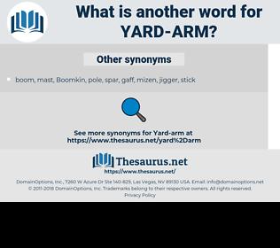 yard-arm, synonym yard-arm, another word for yard-arm, words like yard-arm, thesaurus yard-arm