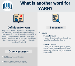 yarn, synonym yarn, another word for yarn, words like yarn, thesaurus yarn